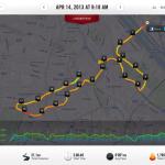 mapa z Nike Running