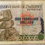 one thousand dollars of Zimbabwe
