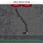 mapa a profil z Nike Running